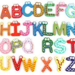 Kitchen Magnets To Go Cabinets Wholesale Children Kids English Alphabet Refrigerator Big Anti Rust Thickened Baby Wooden Fridge Magnet Magnetic Sticker