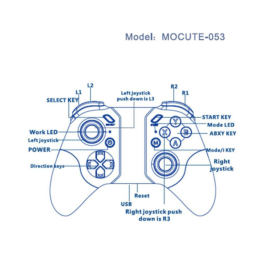 hight resolution of mocute 055 bluetooth gamepad for strike of kings mobile game handheld joystick console 4 android icade smartphone tv box pc
