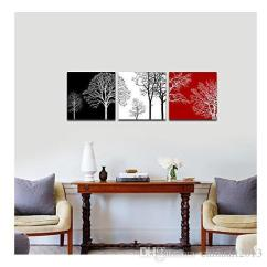 Contemporary Artwork Living Room Mobile Home Paint Ideas 2019 24x24inchxhand Painted Oil Painting Colorful Tree Modern Canvas Wall Art No Framed For And Bedroom From Chinaart2013