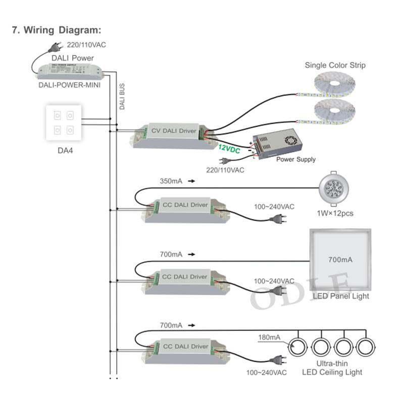 dali led driver wiring diagram star delta connection motor 2019 new dimmer dimming 86mm touch panel 4 channel da4 01 02 03