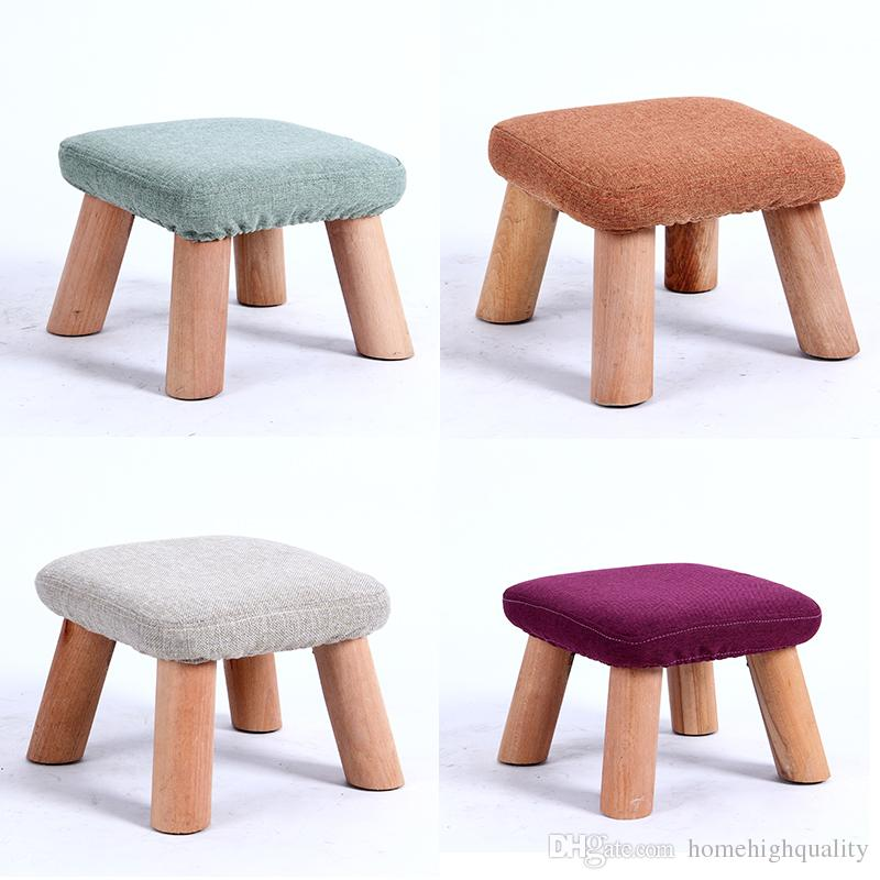 chair stool small outdoor feet 2019 wooden dining cotton fabric coffee home 3 quality assurance and created exclusively for you
