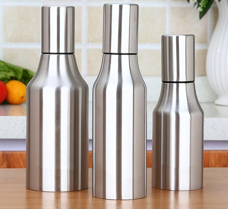 oil dispenser kitchen molding on top of cabinets 2019 new 500ml 750ml stainless steel olive bottle pourer leakproof for vinegar sauce tool from