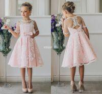 Cheap Short Flower Girl Dresses For Bohemia Beach Wedding ...