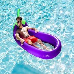 Inflatable Water Chairs For Adults Double Recliner 2019 270cm Giant Purple Eggplant Swimming Pool Raft Lounge Chair Floats Adult Tube Kid Ring Toys From