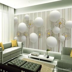 Wall Paper For Living Room Simmons Set Dandelion With Romantic 3d Ball Photo Wallpaper Tv Backdrop Mural Hd Images