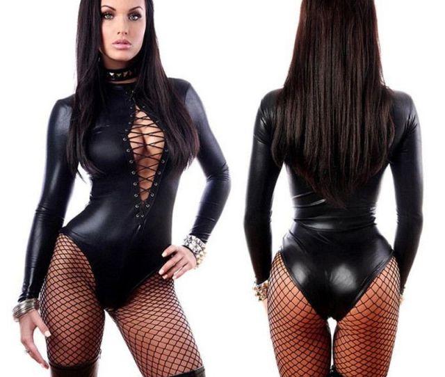 Women Black Bodysuits Sexy Lingerie Slave Maids Women Prisoners Uniform Temptation Pirate Clothes Unitard Spandex Catsuit Babydoll Lingerie Latex Catsuit