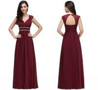 Maroon Bridesmaid Dresses with Cap Sleeves_Bridesmaid ...