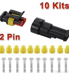10 kit 2 pin way waterproof car atv electrical wire connector plug cable 12v for car lsr0005 auto parts for sale online auto parts location from myjewelry  [ 1001 x 1001 Pixel ]