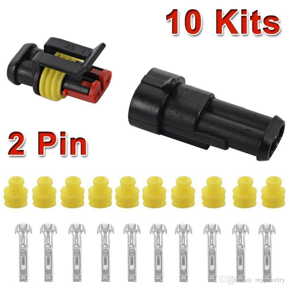 hight resolution of 10 kit 2 pin way waterproof car atv electrical wire connector plug cable 12v for car lsr0005 auto parts for sale online auto parts location from myjewelry