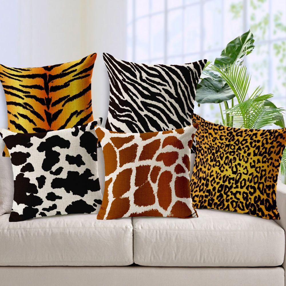 acheter animal coussin couverture zebra leopard tigre girafe pour enfants decoratif canape coussin couverture de voiture chaise decor a la maison oreiller