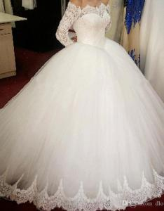 Modifying dress styles is one of our common practices if you want  custom designed personally tailored for youanything added or changed on any also new romantic ball gown lace wedding with long sleeves off the rh dhgate