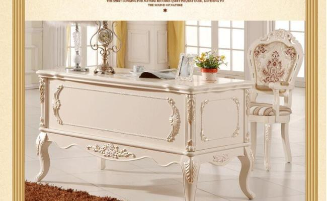 2019 French Baroque Style Luxury Executive Office Desk
