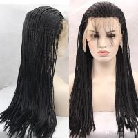 Braiding Synthetic Hair Lace Front Wigs Cap Blonde Black