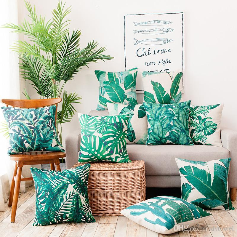 living room friendly pc case white and dark wood furniture tropical pillow covers cushion hibiscus flowers leaves geometric shapes throw cover home sofa office chair floor patio