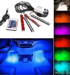 12v flexible car styling rgb led strip light atmosphere decoration lamp car interior neon light with controller cigarette lighter led strip dmx connecting  [ 1000 x 1000 Pixel ]