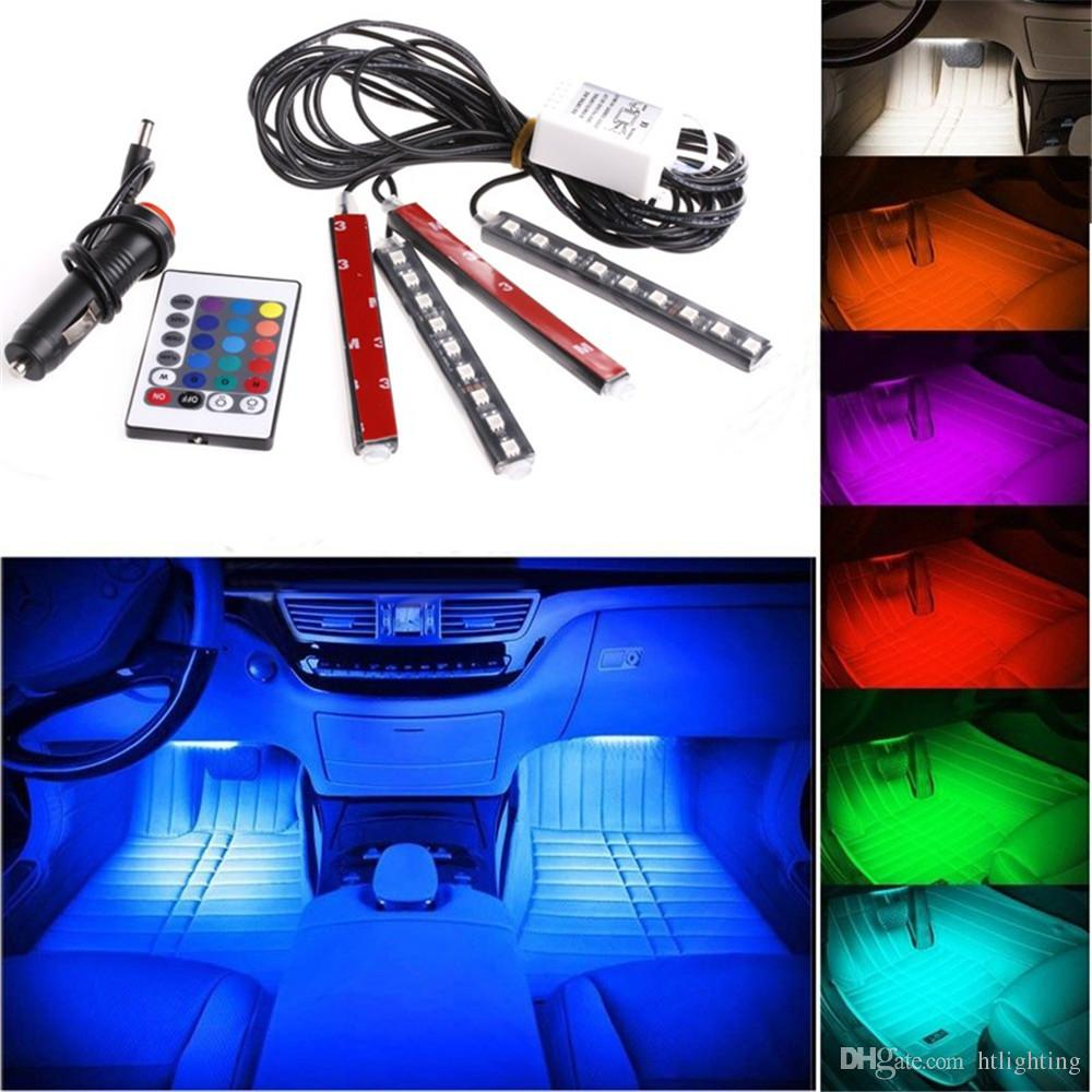 medium resolution of 12v flexible car styling rgb led strip light atmosphere decoration lamp car interior neon light with controller cigarette lighter led strip dmx connecting