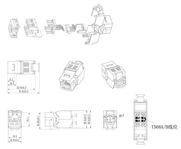 /Pack 10GB Network Cat6A CAT.6A Class Ea RJ45 Shiellded