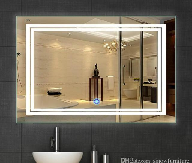 Led Bathroom Silvered Mirror With Touch Button Packing 1pcs Carton Sale Model Mix Order Material Glass Metal Ship By Ems Quantity