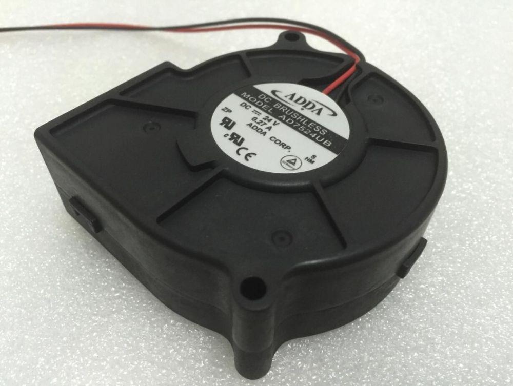 medium resolution of 2019 adda ad7524ub s dc 24v 0 27a 2 wire 70mm 75x75x30mm server blower cooling fan from yhonghub 23 63 dhgate com