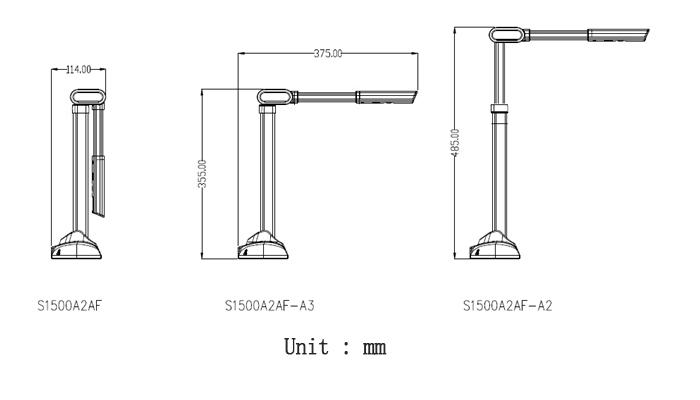 S1500A2U3 High Speed Portable Document Scanner With 15MP