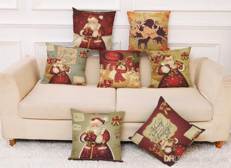 replacement cushions for living room sofa 2 furniture in a small styles wholesale christmas throw home decorative cotton linen square pillow cases car cover cartoon santa elk decor cheap chair