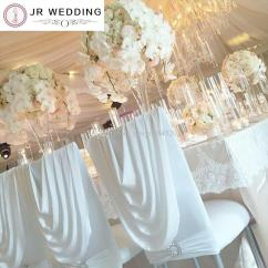 White Chair Covers With Ivory Sash Parsons Chairs Arms Spandex Chiavari Cover Valance At Back Lycra For Tiffany ...