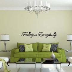 Decorating Living Room Walls With Family Photos Bookcases For Is Everything Wall Sticker Vinyl Art Quote Decal Bedroom Sitting Words Love Diy Decor Stickers Removable