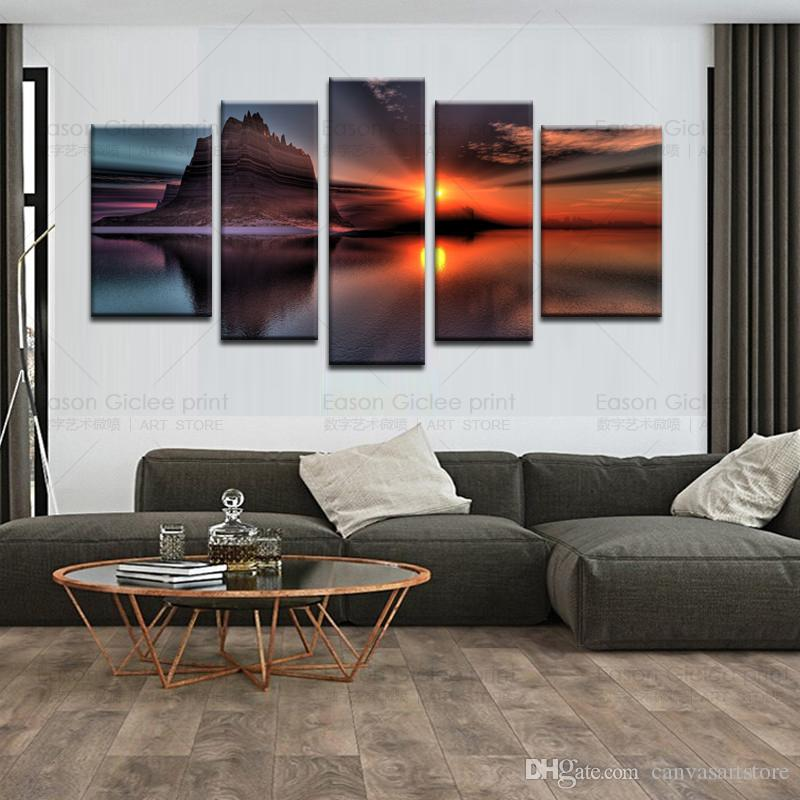 large canvas art for living room black and white modern furniture painting seascape prints artwork wall decor decorative picture cheap