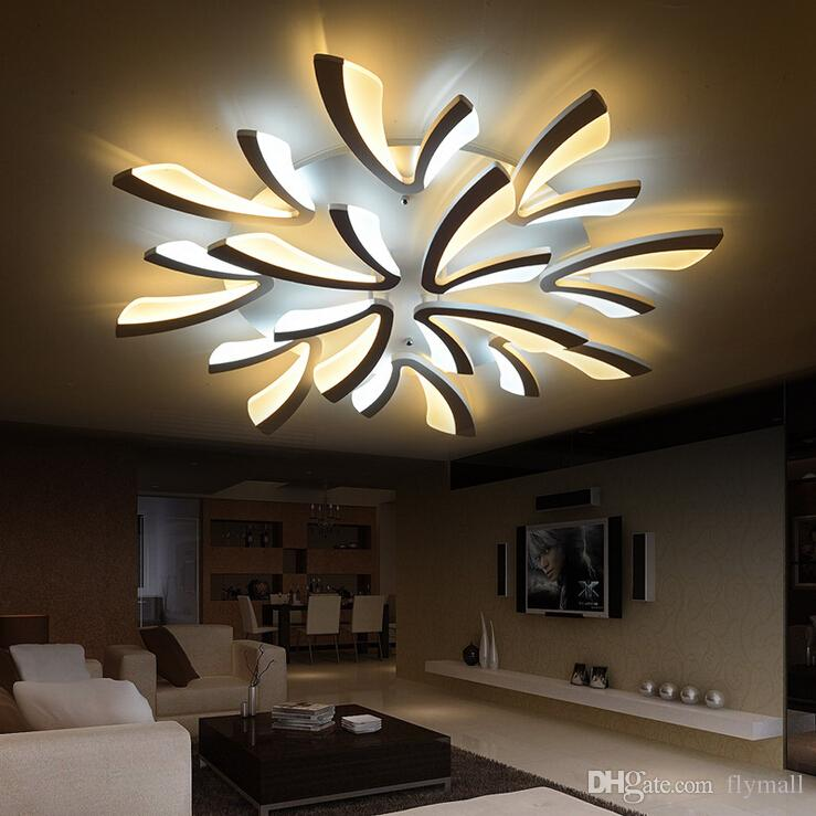 led ceiling light living room mini bar design for the new acrylic modern lights bedroom plafon home lighting lamp fixtures