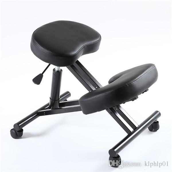 stool chair adjustable dark wood dining room chairs 2019 ergonomic kneeling with caster thick comfortable cushion knee office for home and posture support from klphlp01