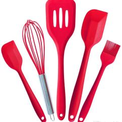 Kitchen Utensil Sets Baseboards 2019 Fda Silicone Utensils Of 5 Cooking Tools Scraper Egg Beaters Brush Spatula Accessories In Hygienic Solid Coating From Cova Fashion