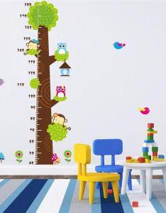Kids height chart wall sticker home decor cartoon owl tree monkey ruler decoration room decals art stickers deals also rh dhgate