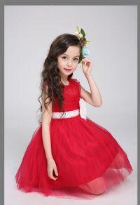 Sweetheart Flower Girls Dresses Online Lovely Short Red ...