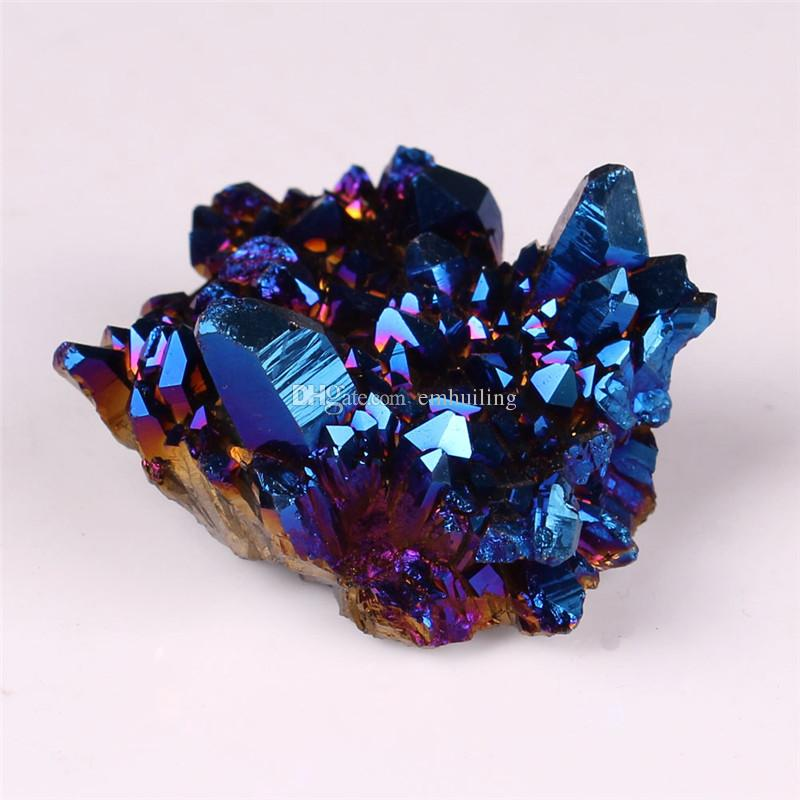 Wholesale Freeform Blue Aura Natural Titanium Crystal