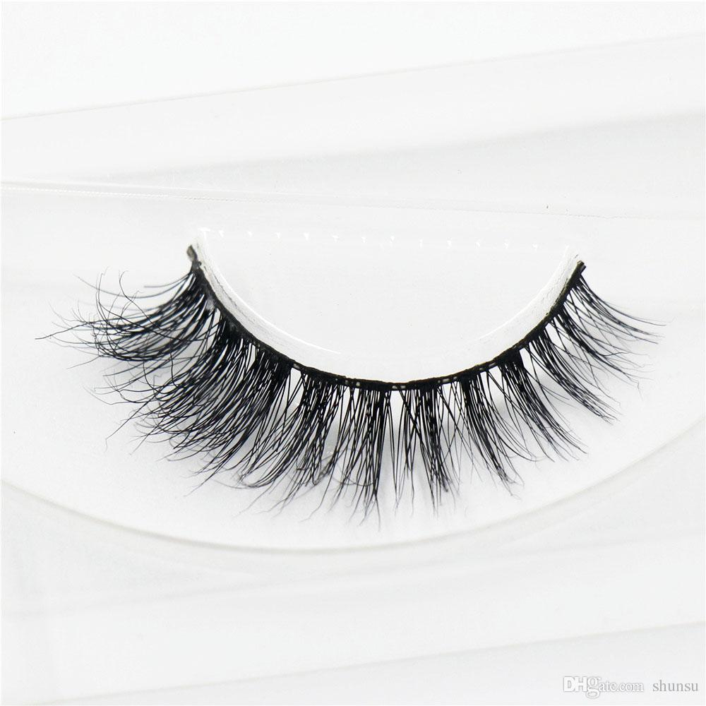 Pair Lashes False Eyelashes Natural Makeup 3d Mink Lashes