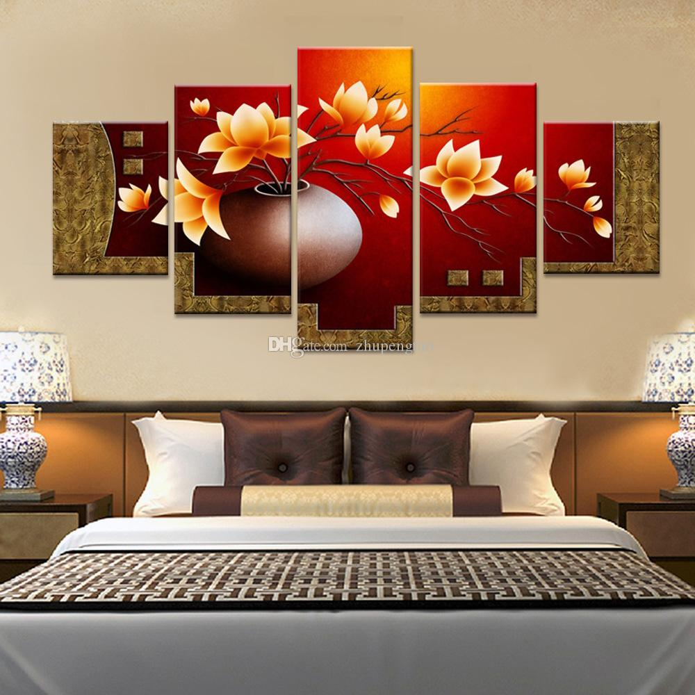 living room flower vases glider rocker magnolia vase canvas print oil painting wall pictures for paintings no frames flowers decorative online