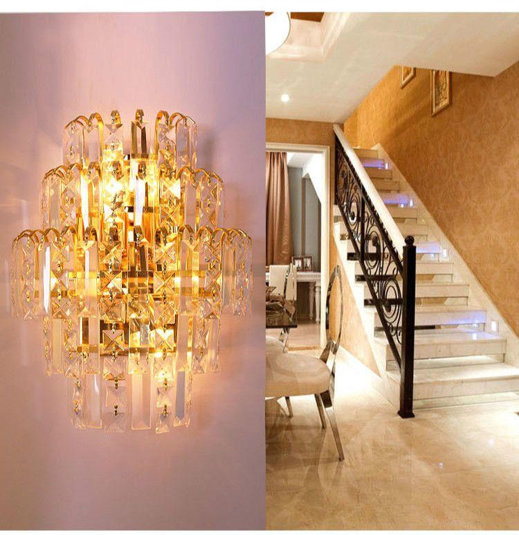 modern wall sconces living room bedroom in ideas luxury lights crystal sconce bedside light lamp 5 w 35 x h 26cm indoor mount lighting