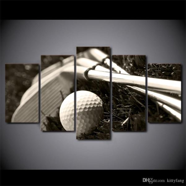 2018 Hd Printed Golf Clubs And Ball Wall Poster Canvas Modern Framed Painting Living