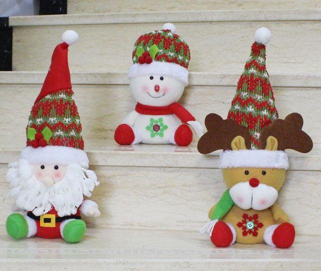Small Bulk Christmas Ornaments Santa Claus Snowman Elk Doll Decoration Cartoon Toys Christmas Interior Decoration Christmas Payment