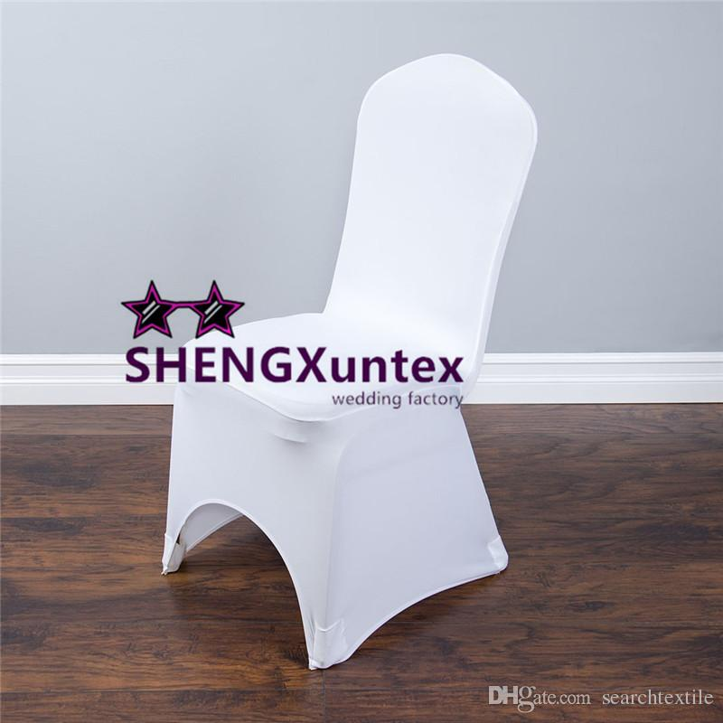 spandex chair covers cheap hydraulic salon white color strech lycra cover with strong pocket for wedding lyca online