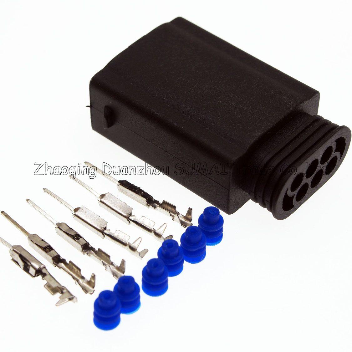 hight resolution of 2018 amp 6 pin way male auto restrictor sensor plug throttle position sensor connector