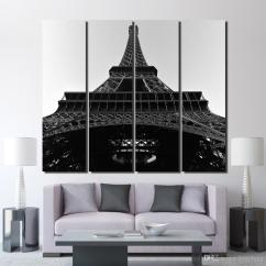 White Wall Decorations Living Room Narrow Side Tables For Canvas The Eiffel Tower Black And Art Posters Prints Up 1352d Canada 2019 From Kittyfang Cad 44 40 Dhgate