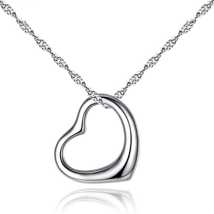 Wholesale Heart Necklace Necklaces Hot Sale Silver Chain