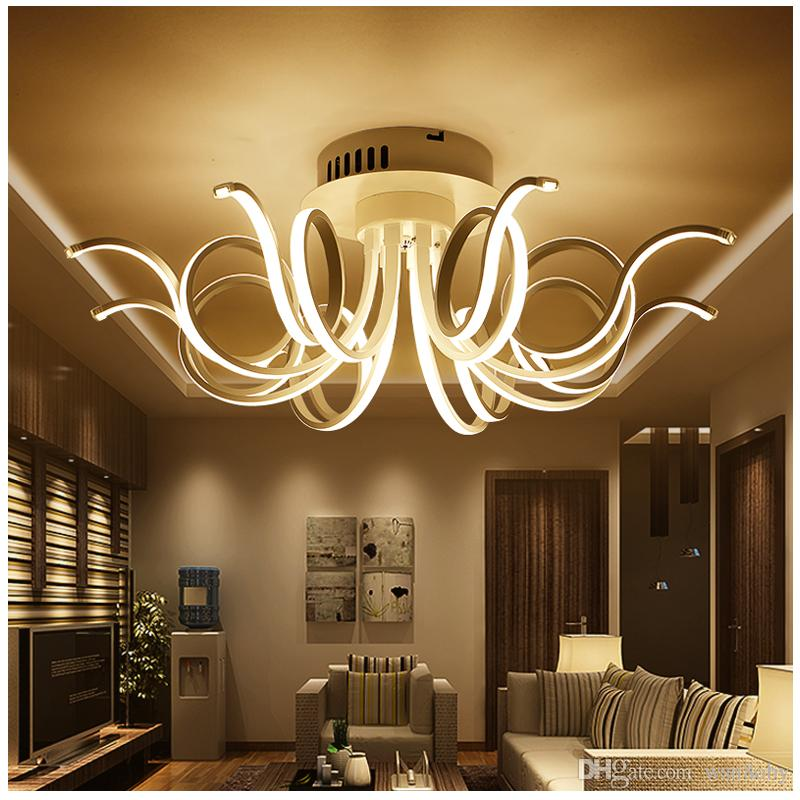 2019 Modern Led Living Room Ceiling Lights Bedroom Acrylic