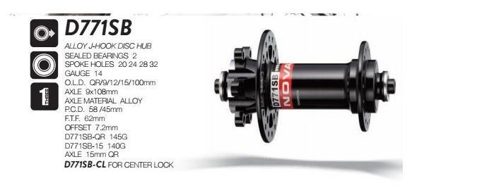 2018 Novatec D771SB 15mm&D772SB 12mm XD Sram 11Speed Hub