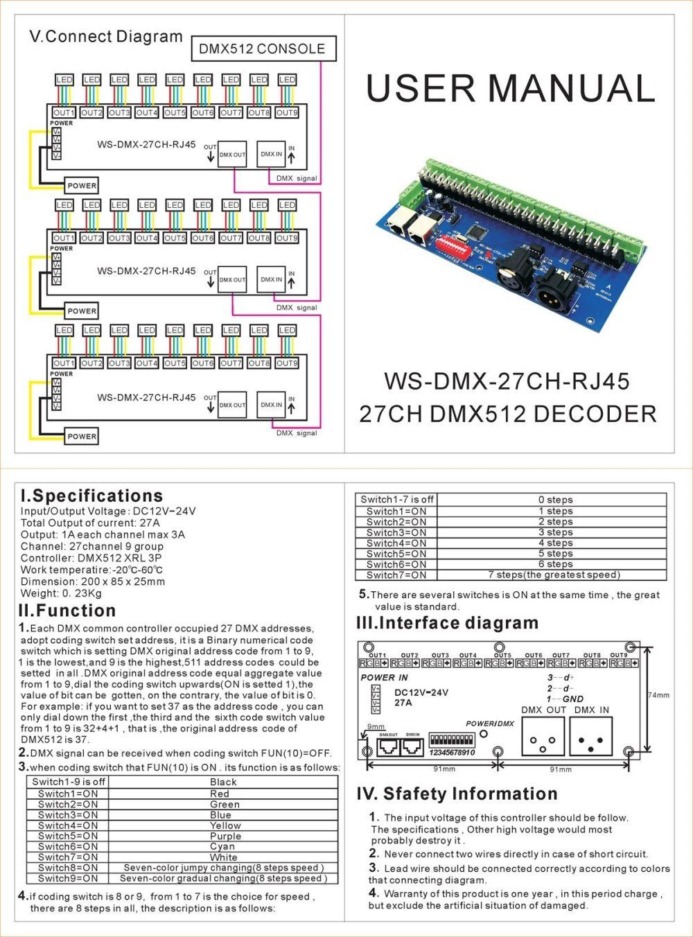 medium resolution of 30 channel 27channel easy dmx led controller dmx decoder driver