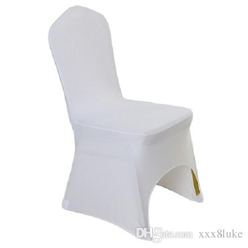 universal banquet chair covers queen anne wing recliner white colour lycra cover for wedding decoration reinforced elastic feet pocket which can fit all legs and don t get broken after hundreds times use