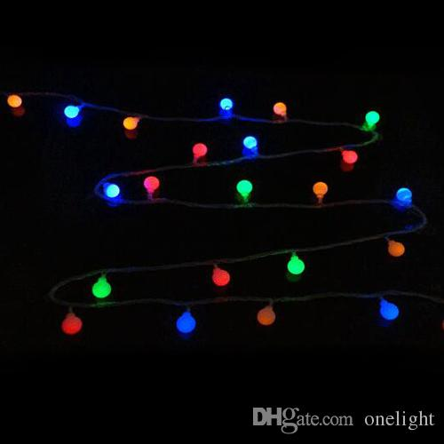 xmas colors bulb string