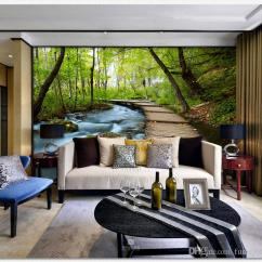 Large Living Room Sofas Interior Design Ideas For Small India Seamless Fresco 3d Video Wallpaper Sofa Television Background Wall Murals Green Pastoral Canada 2019 From Fumei66