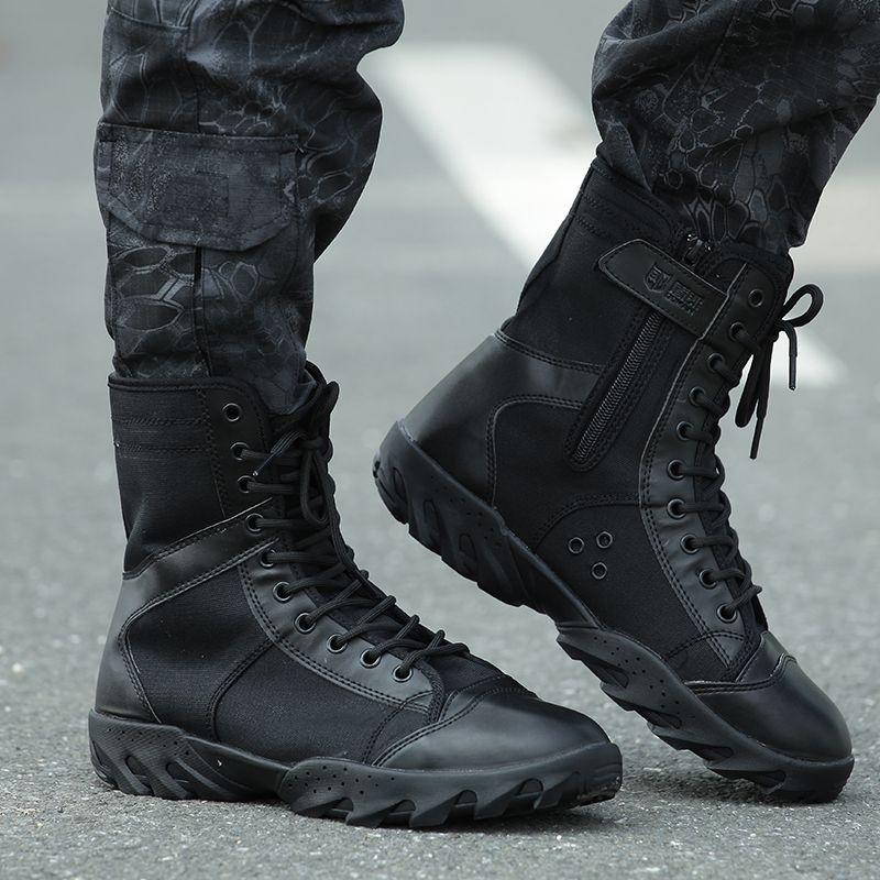 2018 Men Tactical Boots Desert Army Combat Outdoor Shoes